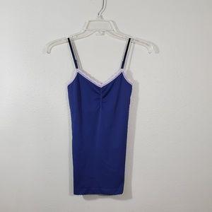 Victoria's Secret Stretch Nylon Cami Navy Blue